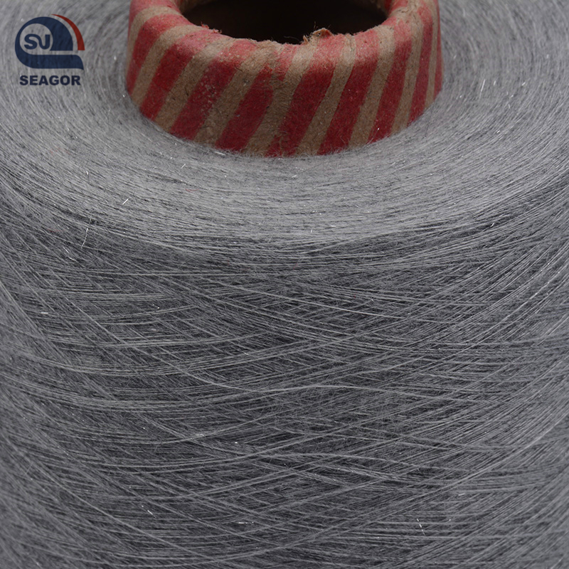 Silver Lurex Fabric Metallic Yarn Composition of Lurex Yarn Silver Coated Metal Yarn